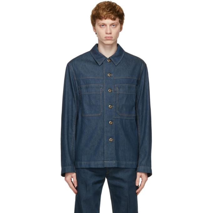 Photo: Lemaire Blue Denim Workwear Overshirt Jacket