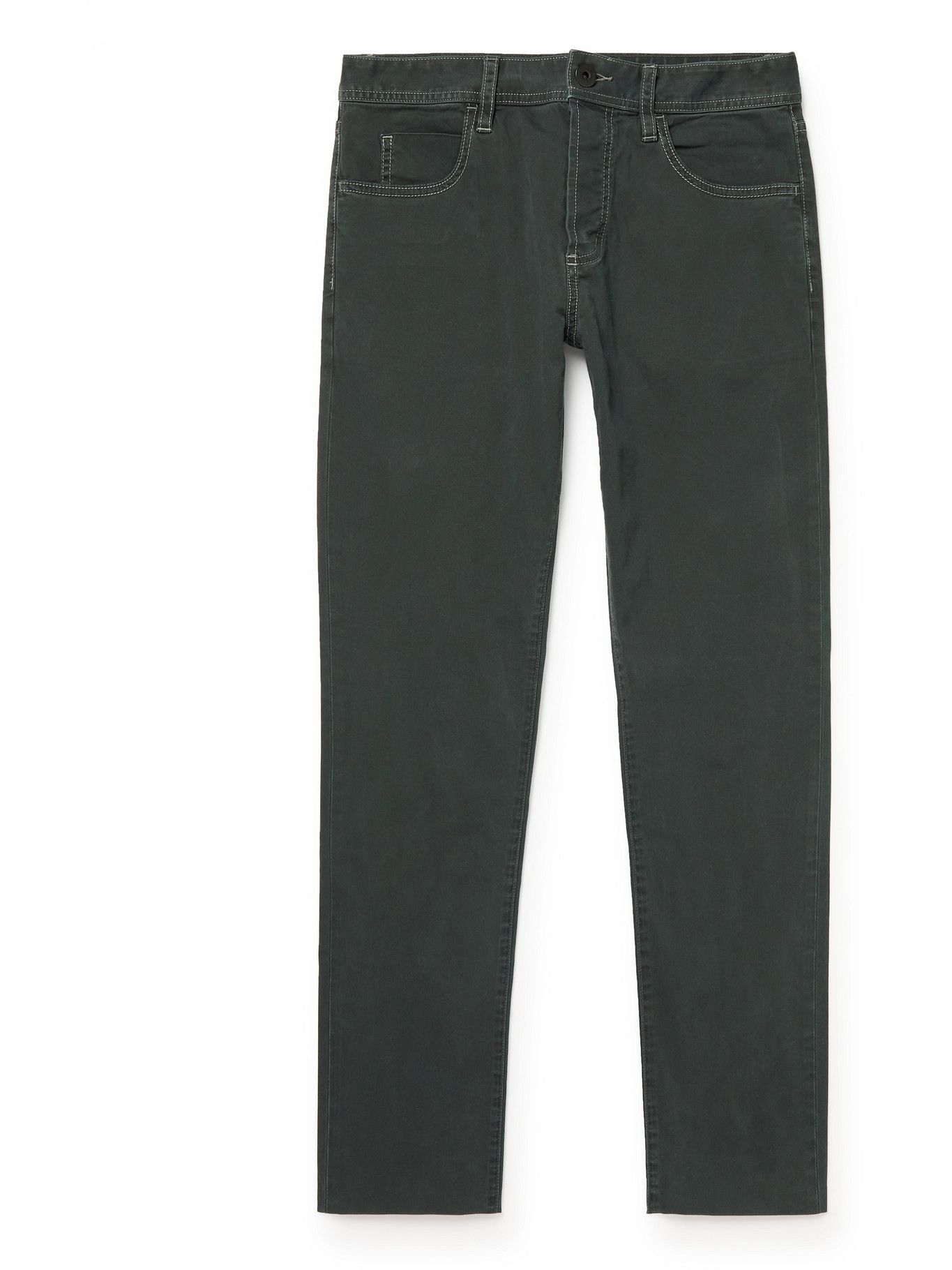 Photo: James Perse - Straight-Leg Brushed Cotton-Blend Twill Trousers - Gray