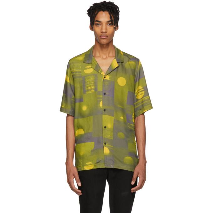 Ksubi Green and Yellow Vitality Resort Shirt