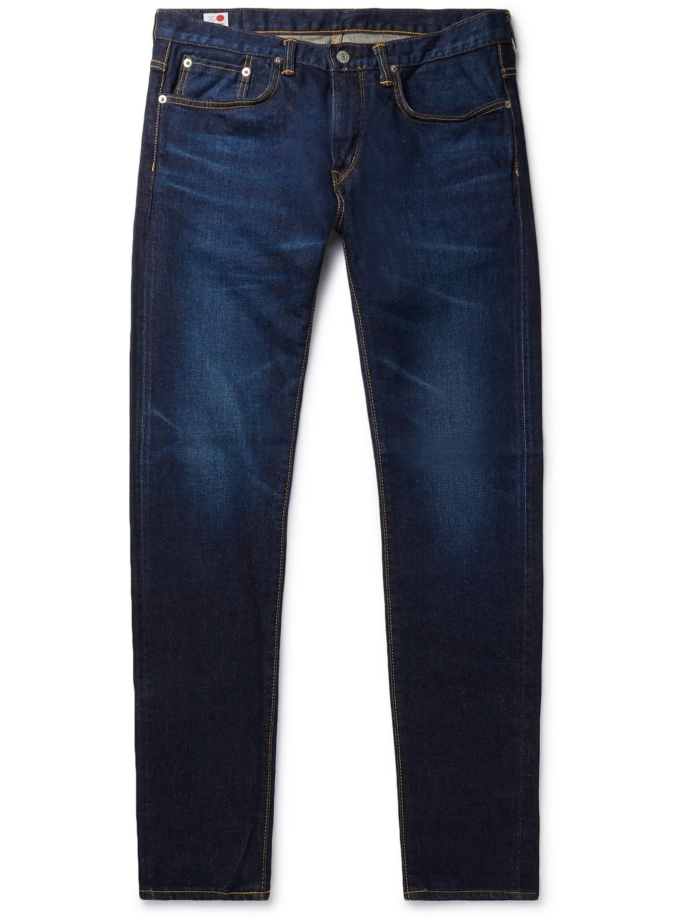 Photo: EDWIN - Kaihara Slim-Fit Tapered Selvedge Stretch-Denim Jeans - Blue