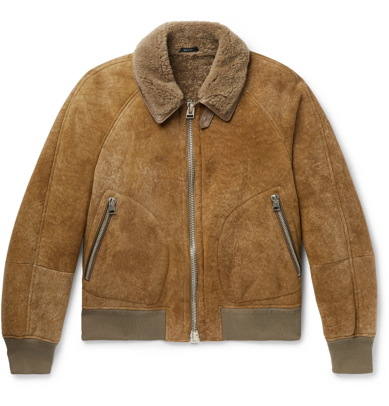 Photo: TOM FORD - Shearling Bomber Jacket - Brown
