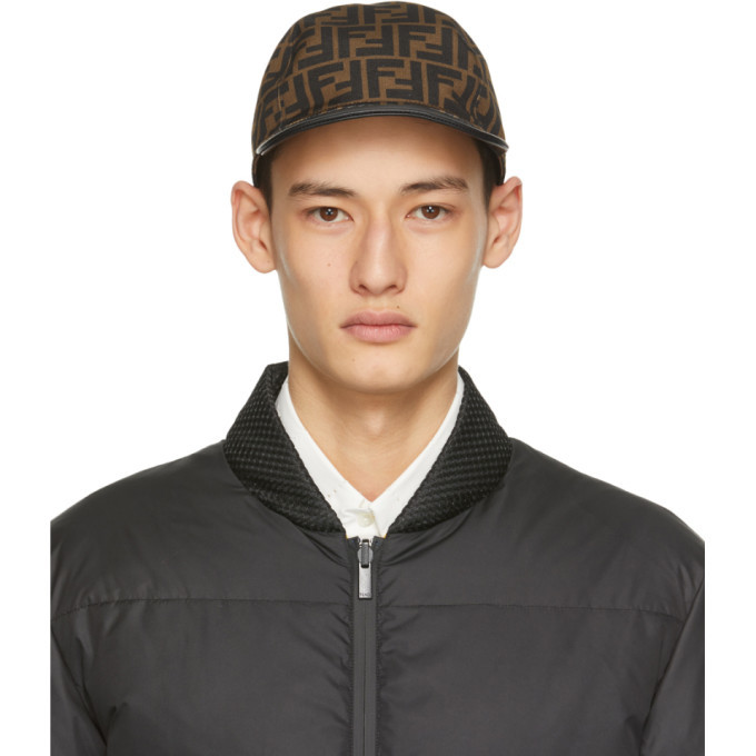 Photo: Fendi Brown and Black Forever Fendi Cap