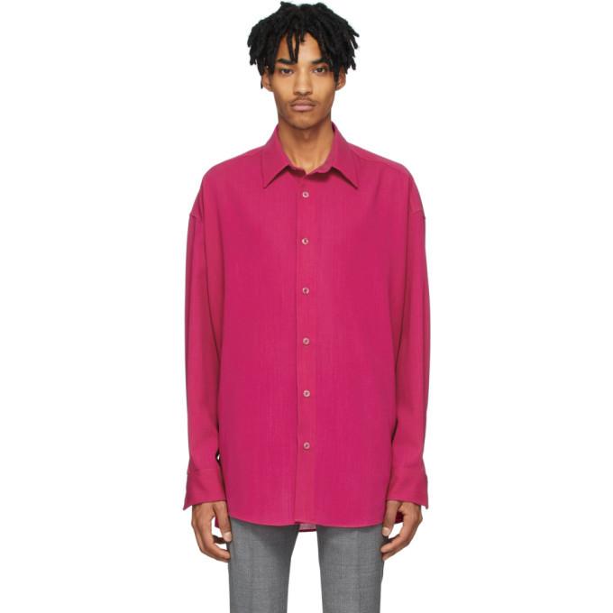 Photo: AMI Alexandre Mattiussi Pink Wool Oversized Shirt