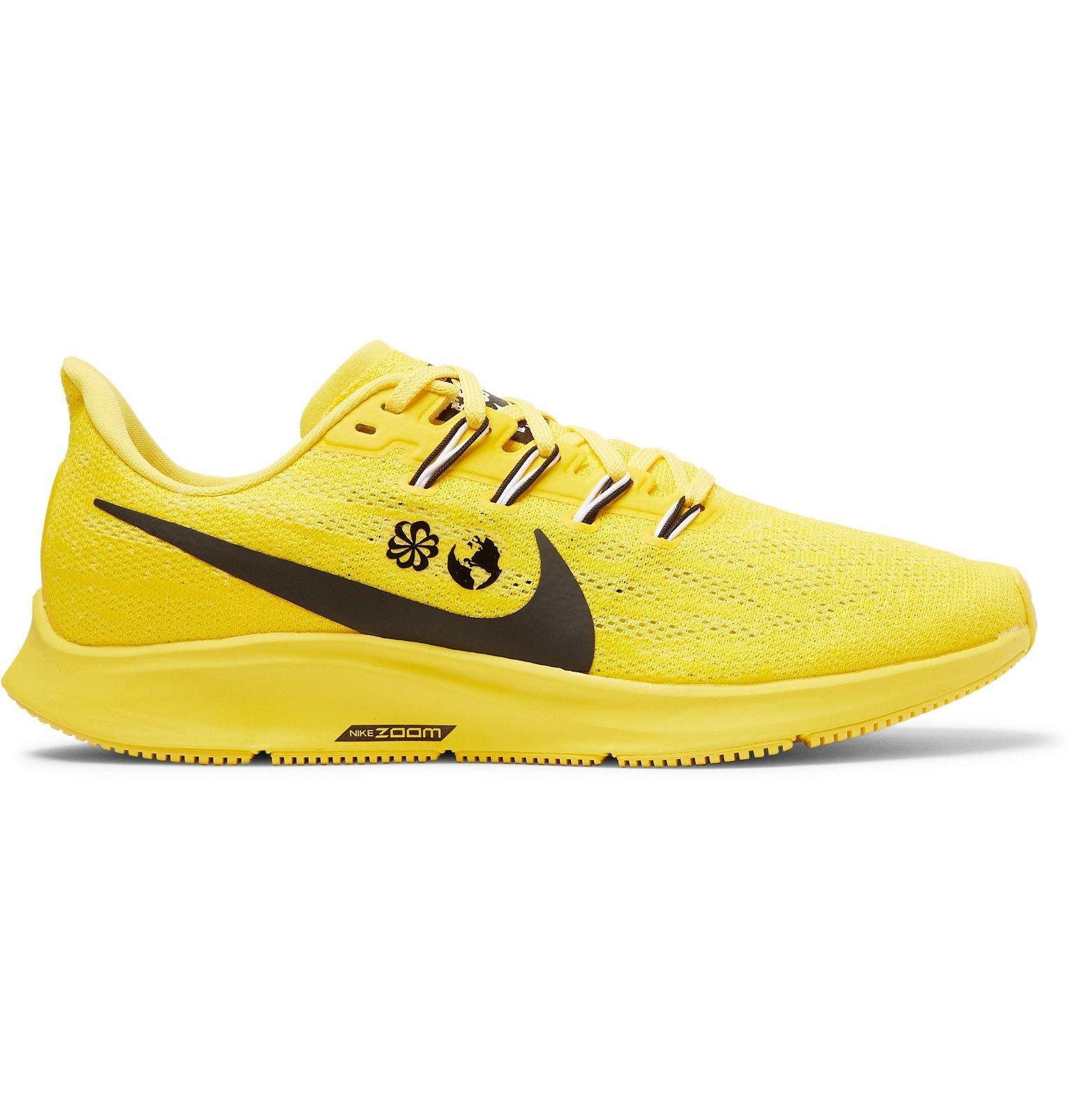 Photo: Nike Running - Cody Hudson Air Zoom Pegasus 36 Mesh Running Sneakers - Yellow
