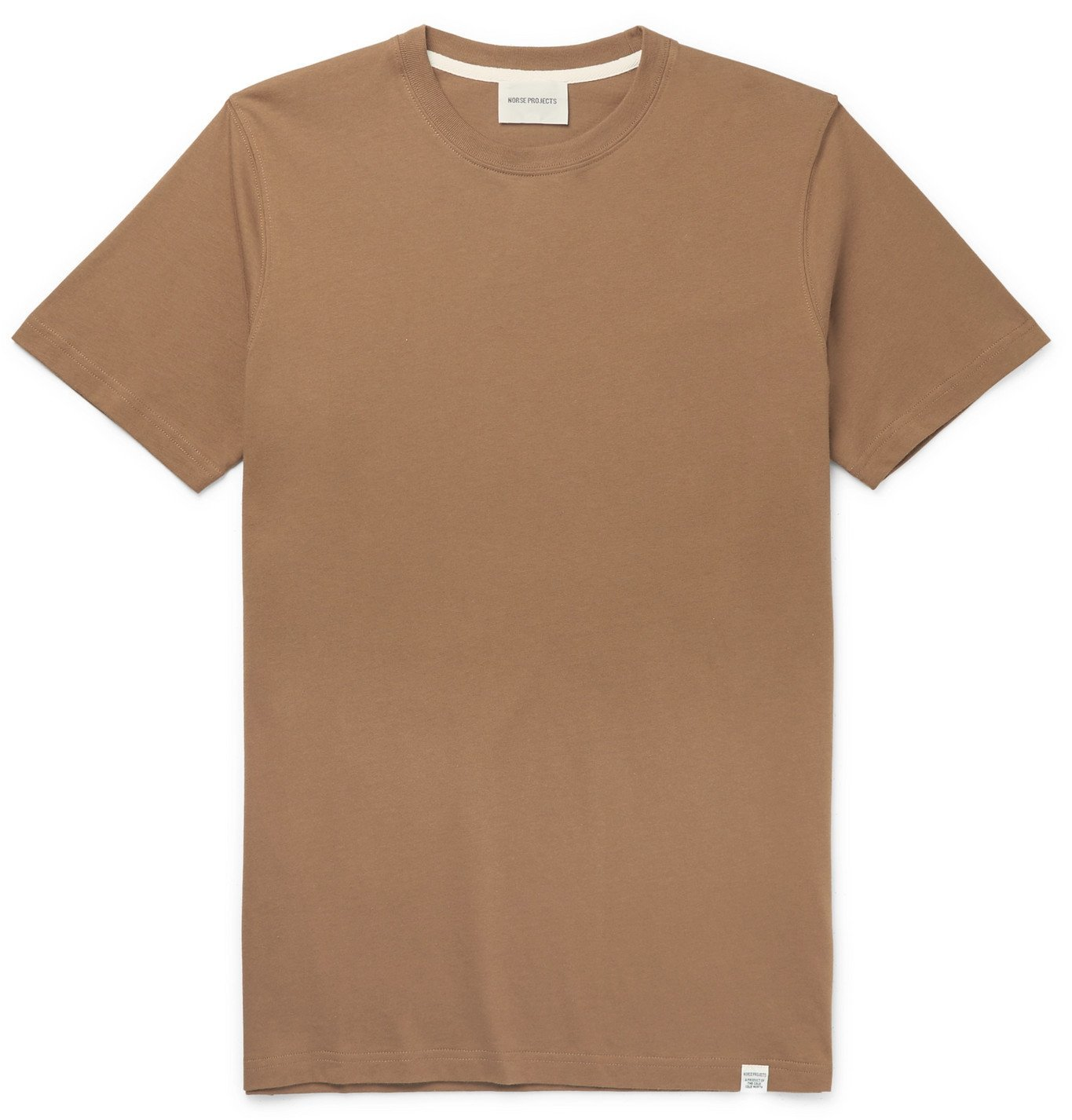 Photo: Norse Projects - Niels Mélange Cotton-Jersey T-Shirt - Brown