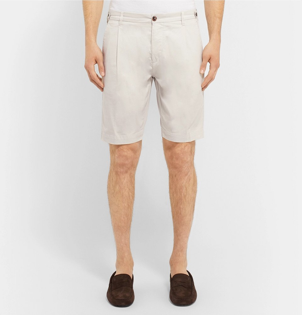 Tod's - Solaro Cotton-Blend Shorts - Off-white