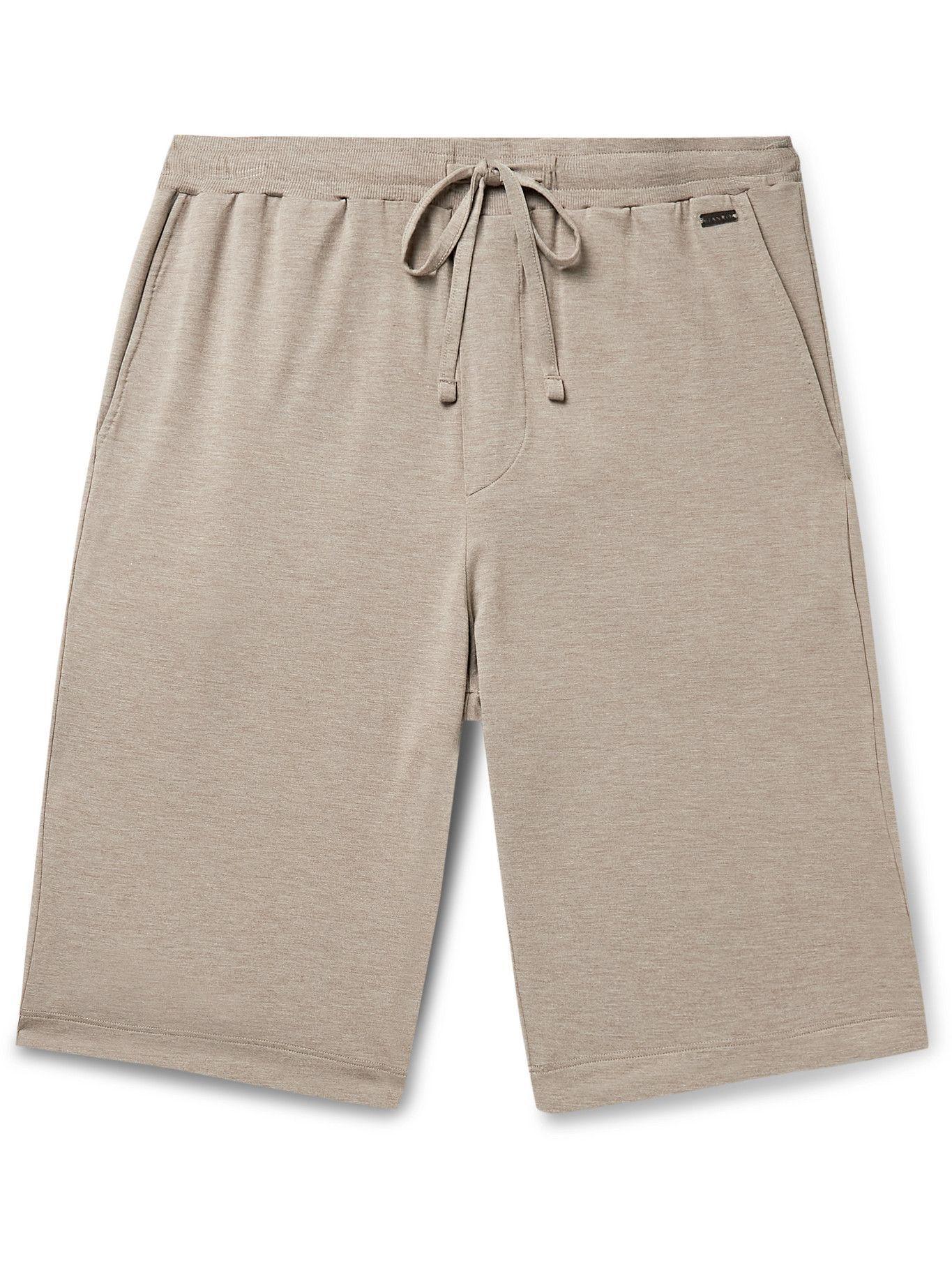HANRO - Jersey Drawstring Shorts - Brown
