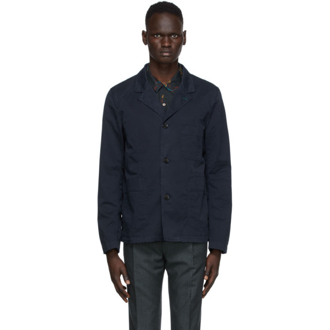 Photo: PS by Paul Smith Navy Convertible Collar Jacket