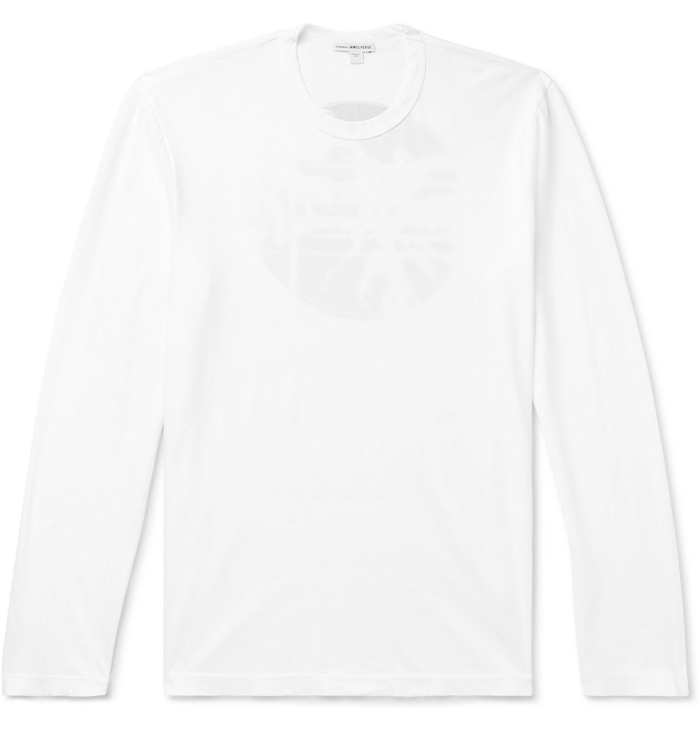 Photo: James Perse - Printed Combed Cotton-Jersey T-Shirt - White