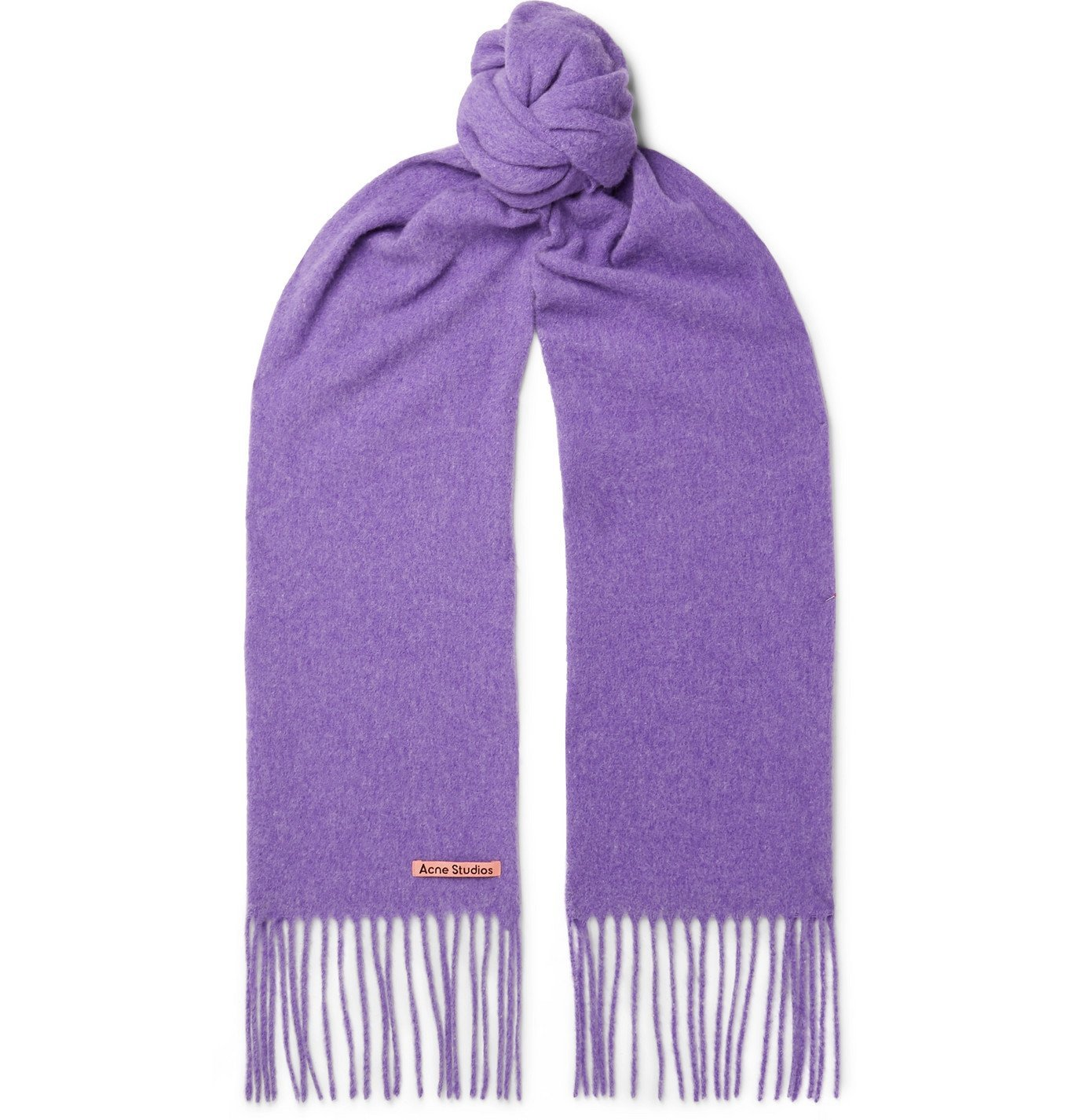 Photo: Acne Studios - Canada Skinny Fringed Mélange Wool Scarf - Purple