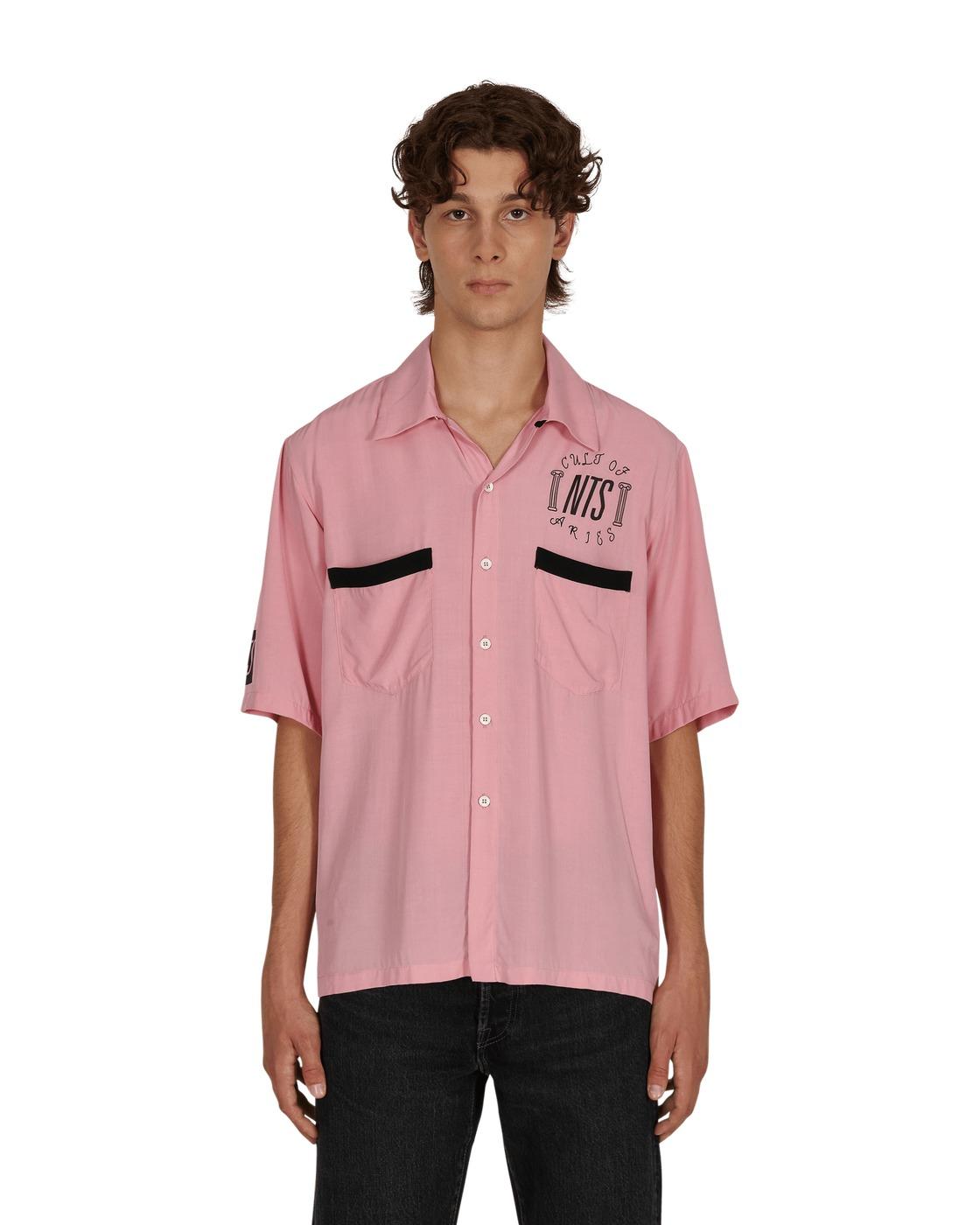 Aries Nts Bowling Hawaiian Shirt Pink