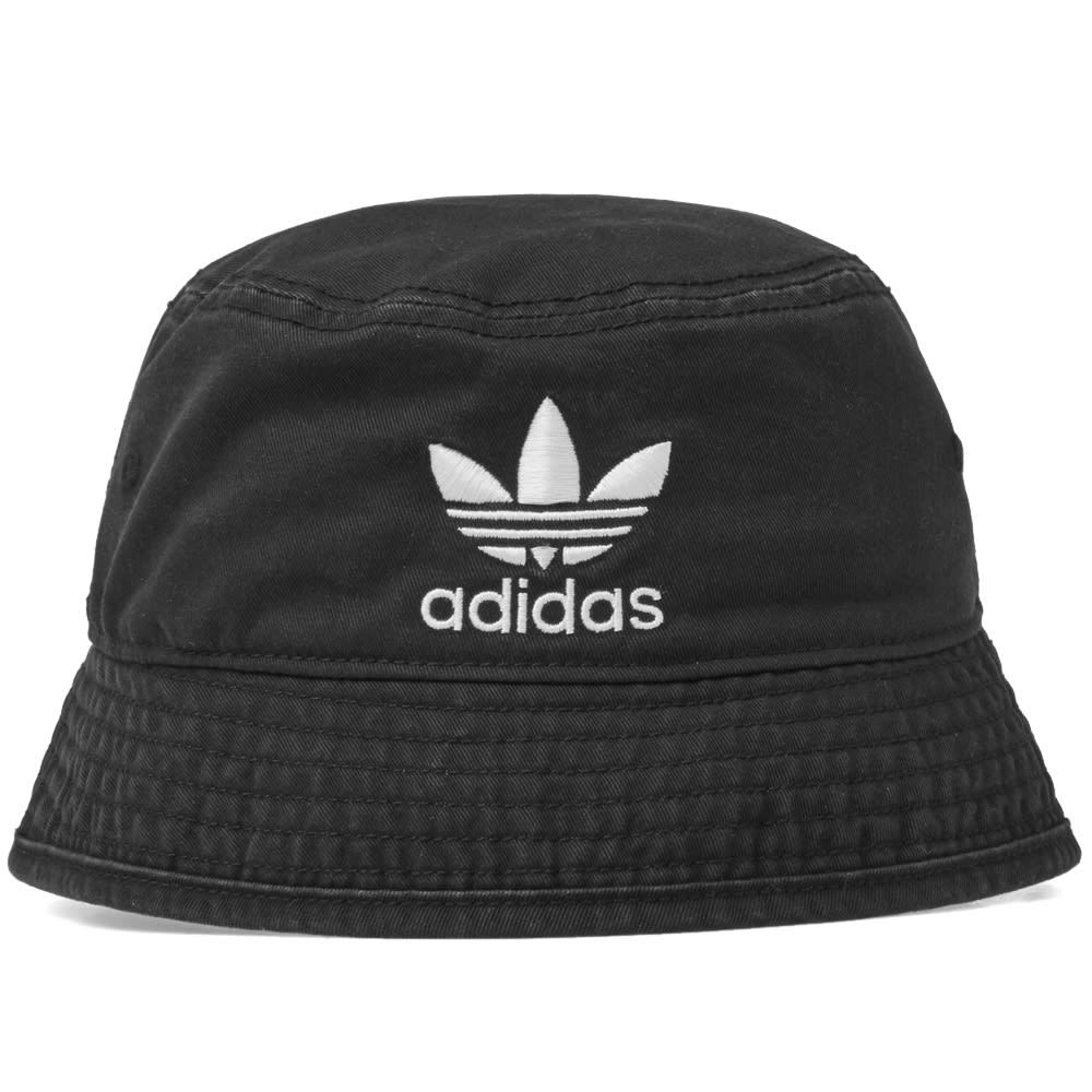 Adidas Trefoil Bucket Hat Black & White