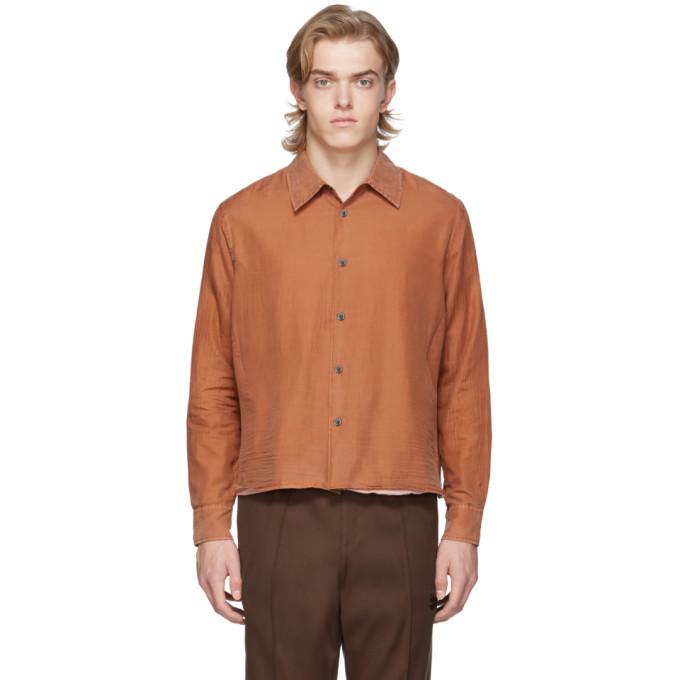 Photo: Our Legacy Orange Silk Double Company Shirt