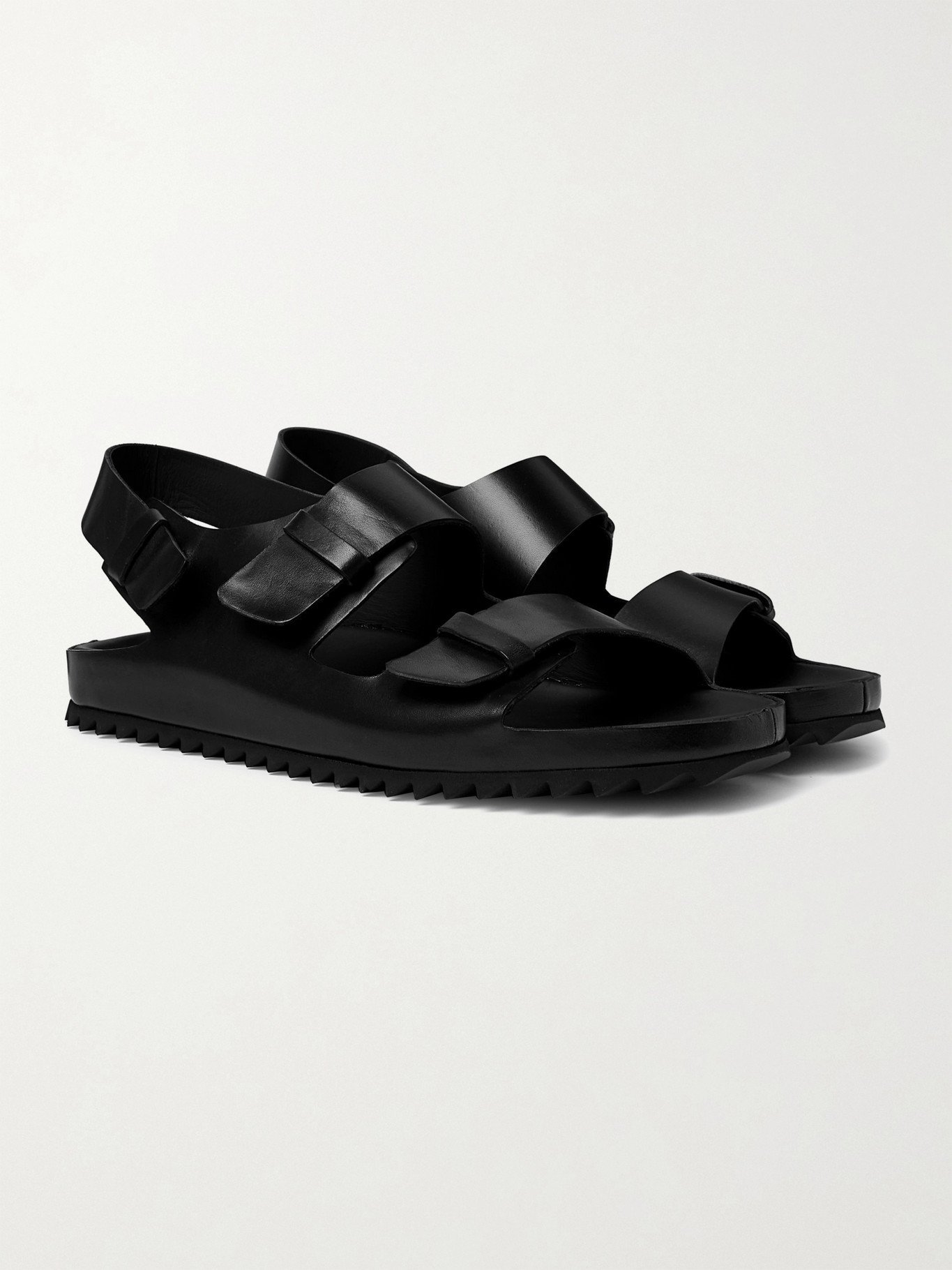 Photo: OFFICINE CREATIVE - Agora Leather Sandals - Black