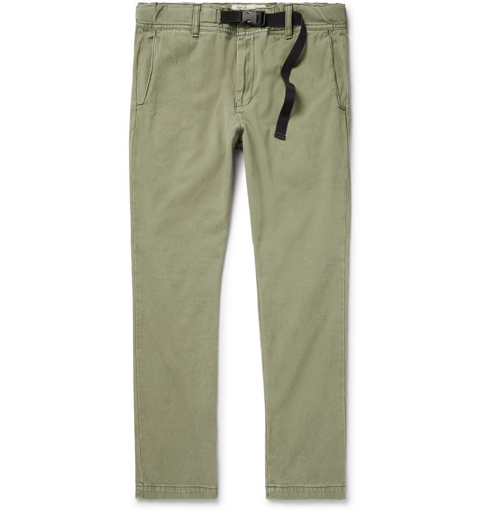 Photo: Remi Relief - Slim-Fit Cotton-Twill Chinos - Men - Army green