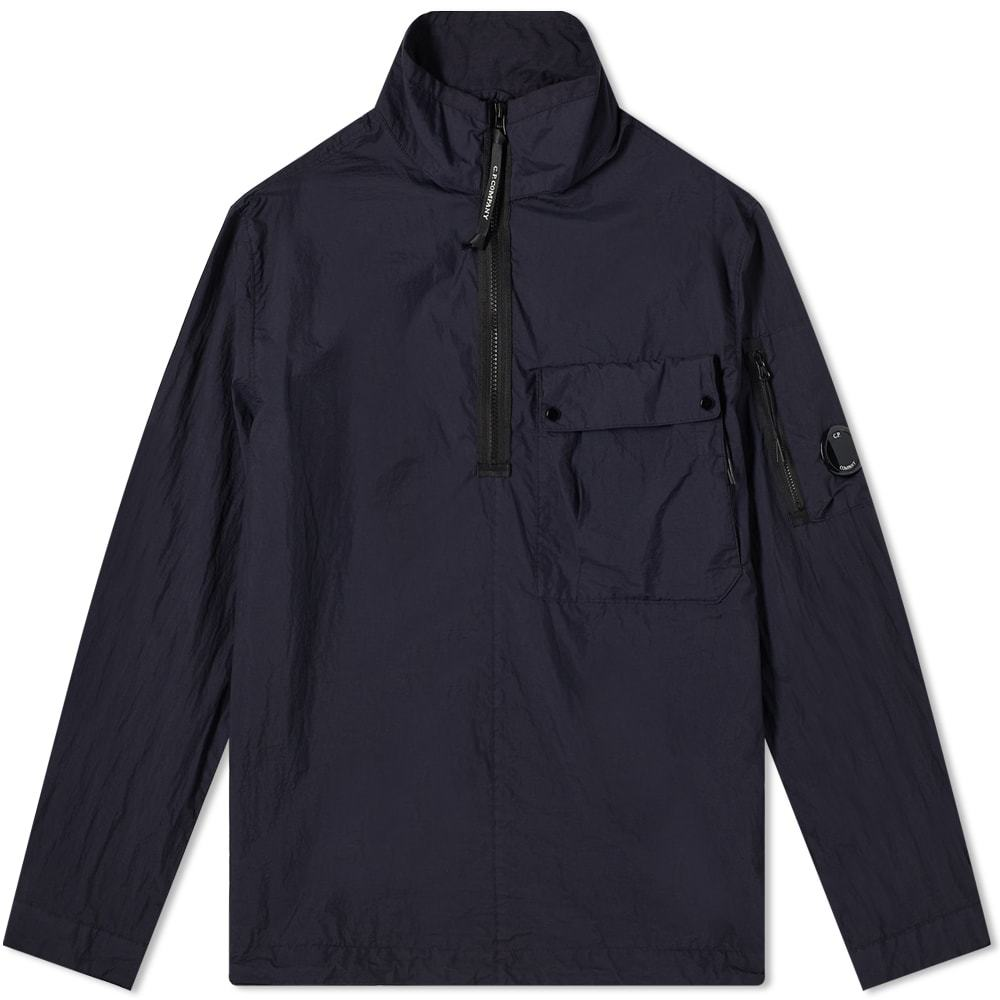 Photo: C.P. Company Tylon L Mixed Quarter Zip Overshirt