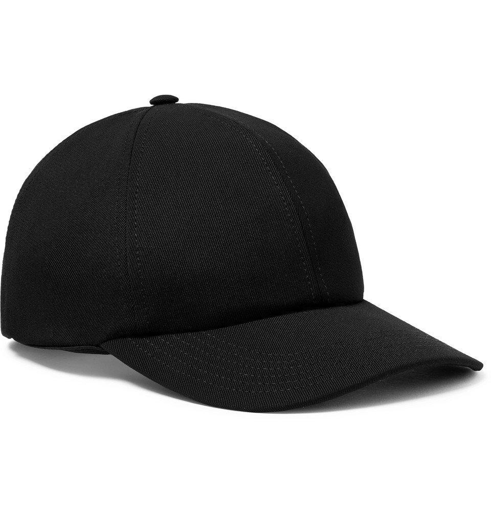 Photo: Valentino - Valentino Garavani Logo-Embroidered Stretch-Wool Twill Baseball Cap - Black