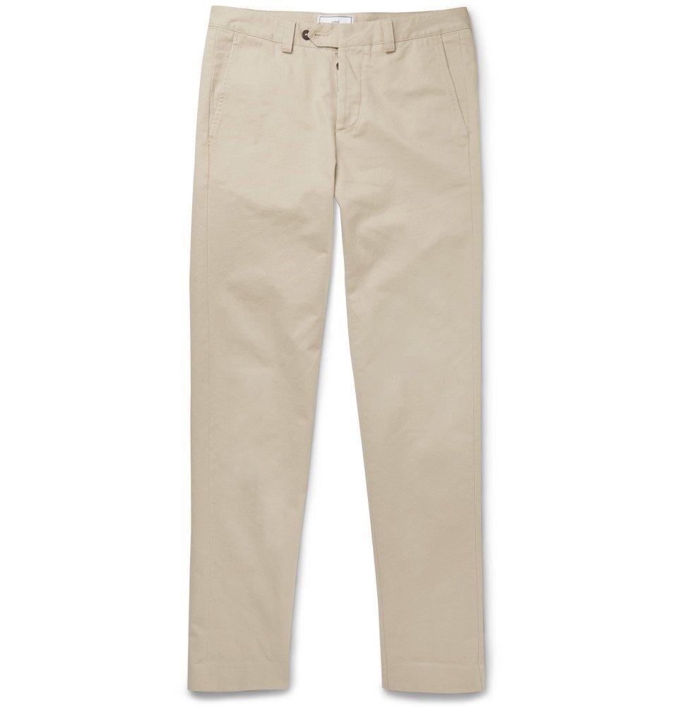 Photo: AMI - Tapered Slim-Fit Cotton Chinos - Cream