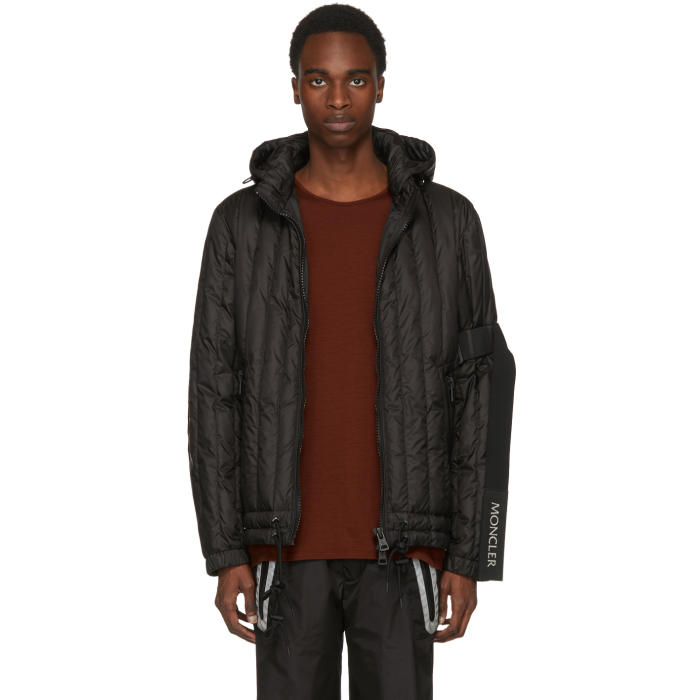 Photo: Moncler C Black Banach Zip-Up Hooded Jacket