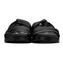 3.1 Phillip Lim Black Twisted Pool Slides
