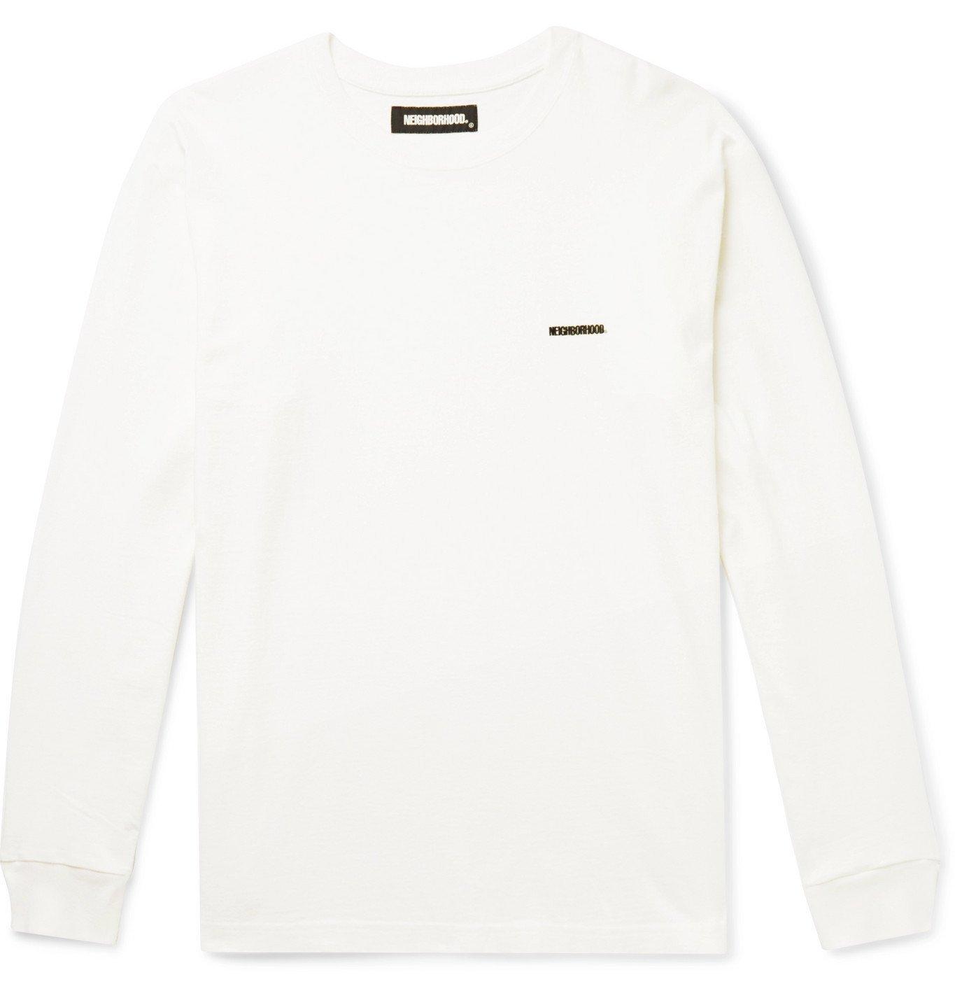 Photo: Neighborhood - Logo-Detailed Cotton-Jersey T-Shirt - White