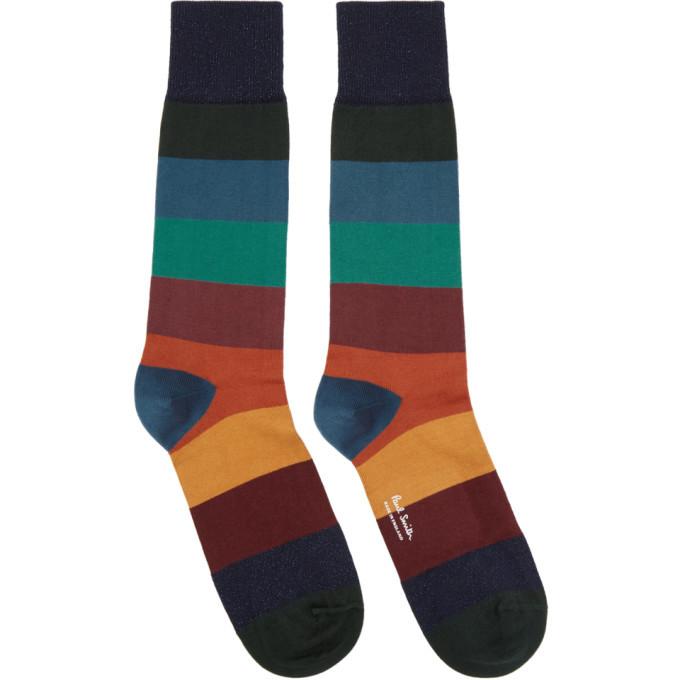 Photo: Paul Smith Multicolor Ian Stripe Socks