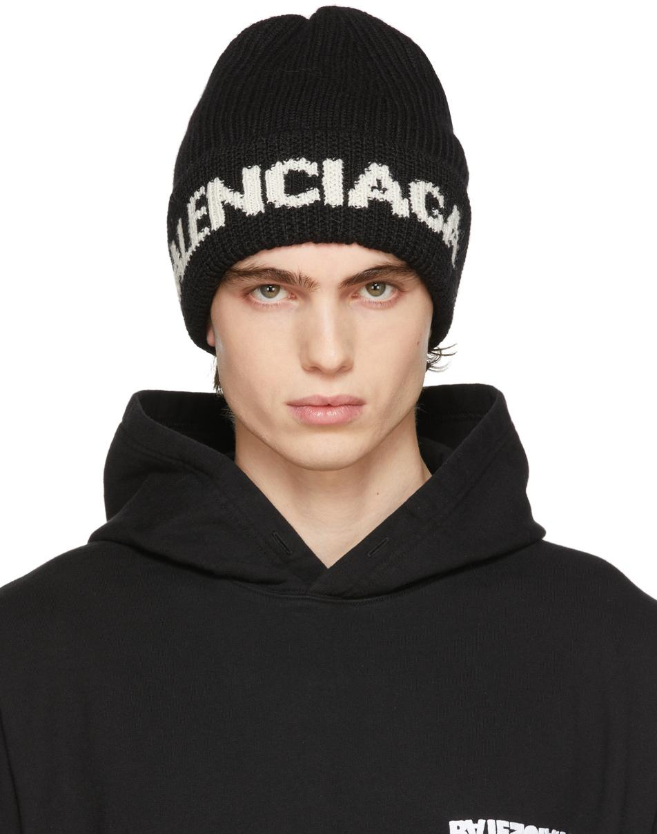 Photo: Balenciaga Black Logo Beanie