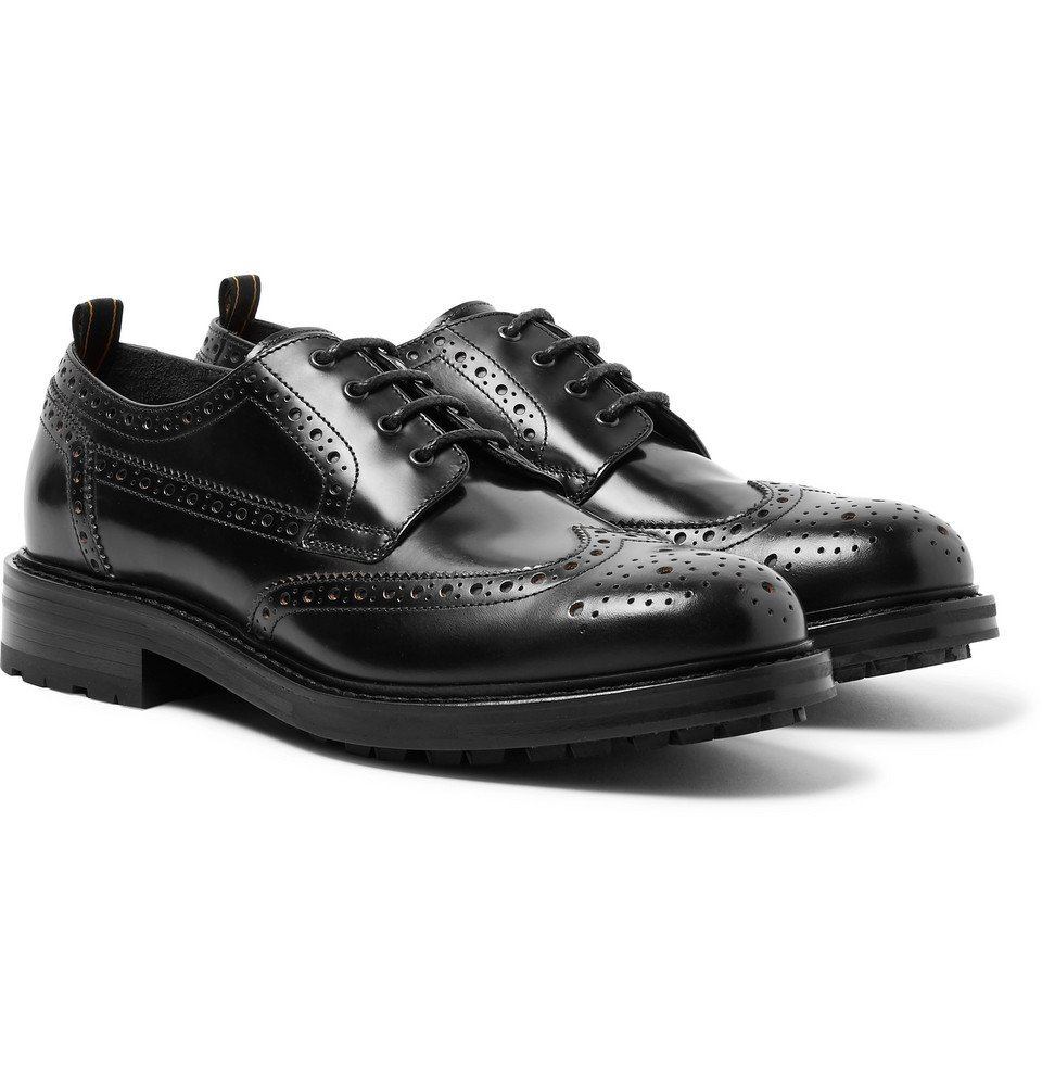 Dunhill - Country Leather Wingtip Brogues - Men - Black