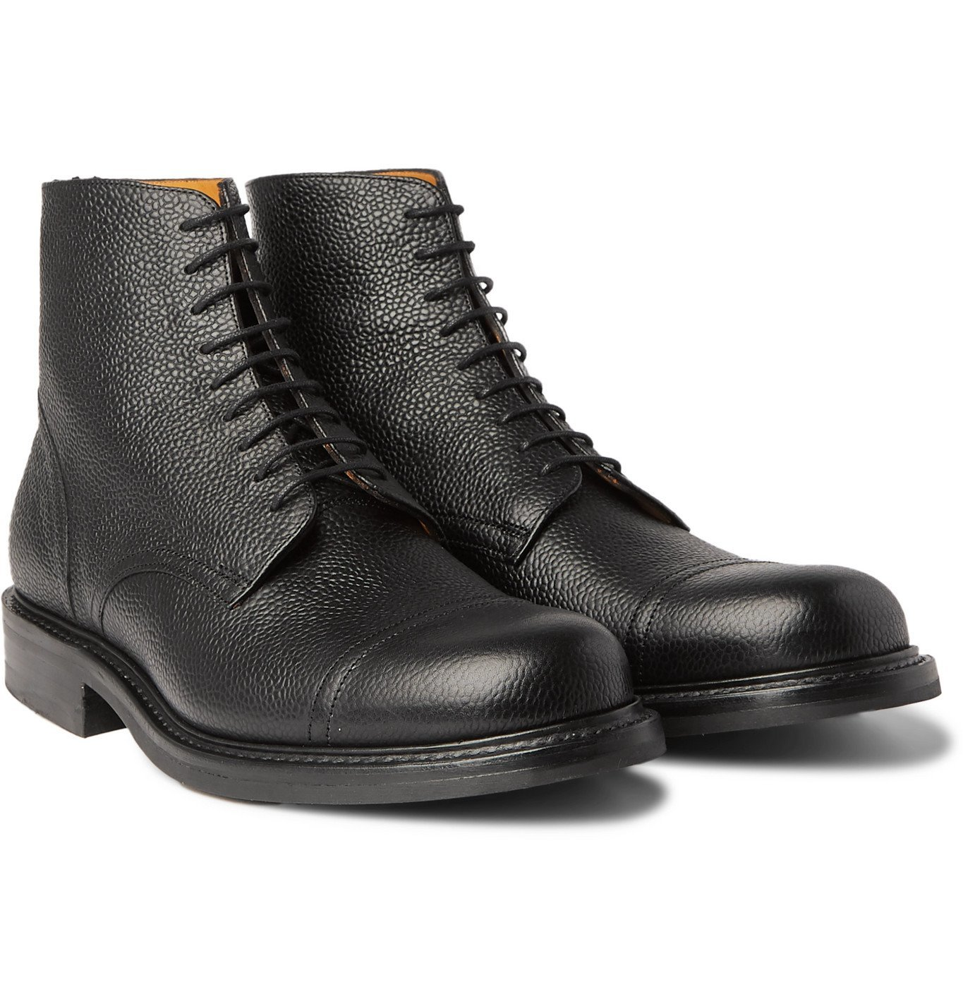 Photo: Mr P. - Heath Full-Grain Leather Chore Boots - Black