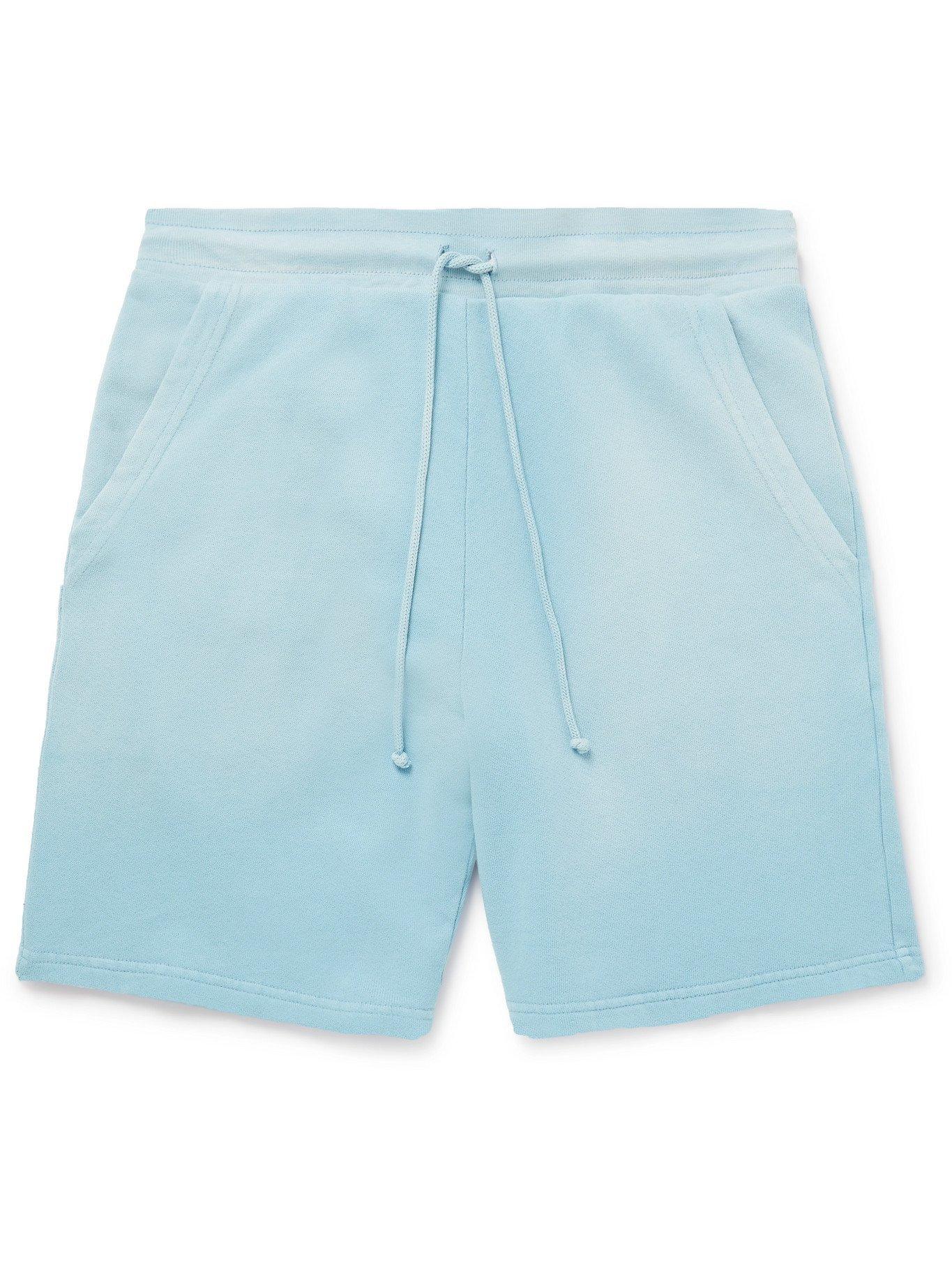 Photo: JOHN ELLIOTT - Exposure Loopback Cotton-Jersey Drawstring Shorts - Blue