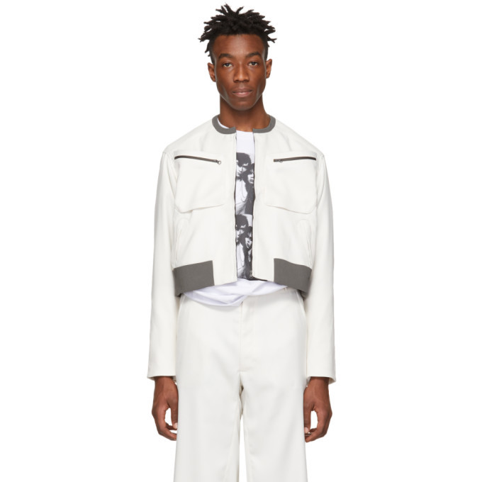 Photo: Kiko Kostadinov White Short Tajima Jacket