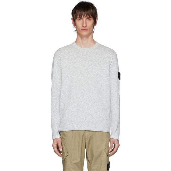 Photo: Stone Island Grey Slub Knit Sweater