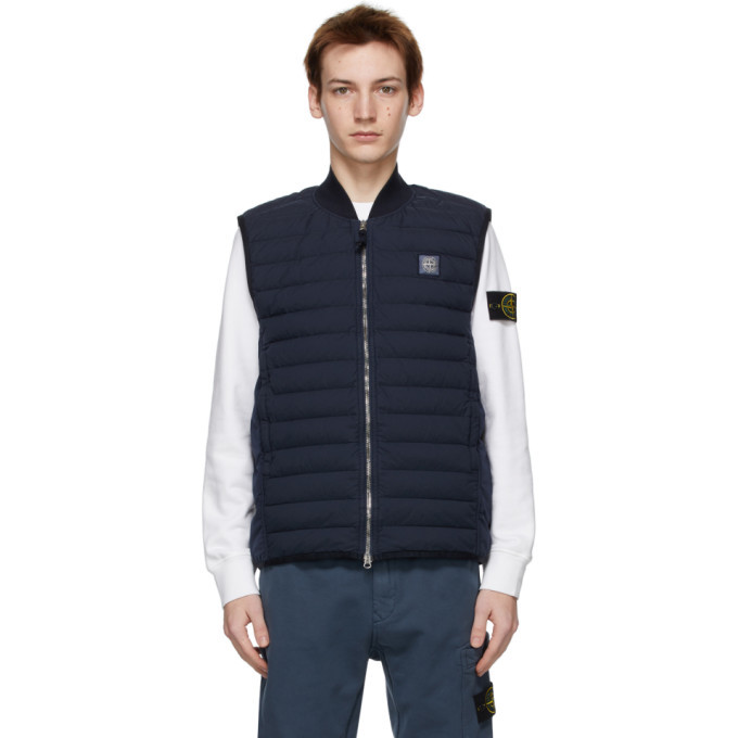 Photo: Stone Island Navy Down Loom Woven Vest