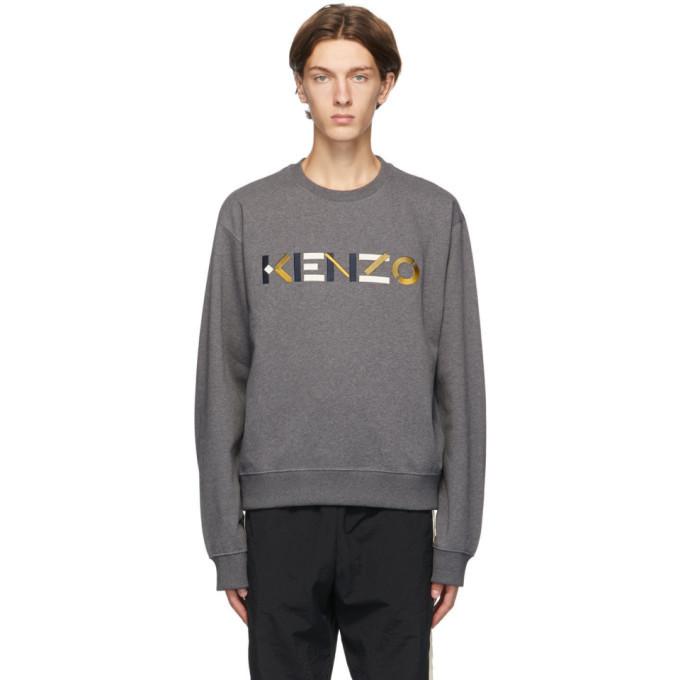 Photo: Kenzo Grey Logo Sweatshirt