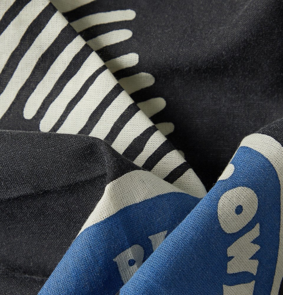 KAPITAL - Bob Marley Printed Cotton Bandana - Blue