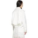 Sacai White Denim Double-Layer Jacket