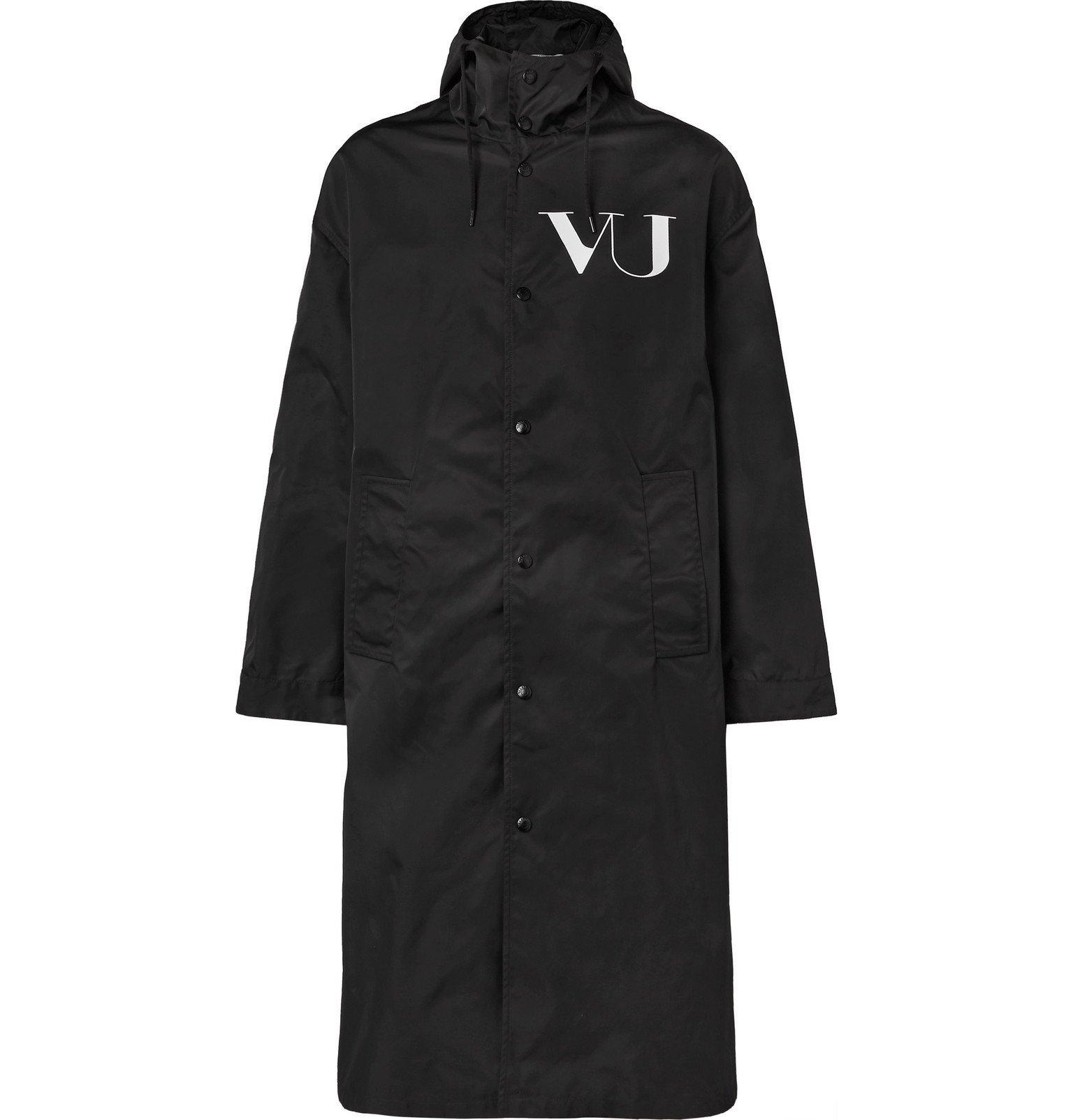 Photo: Valentino - Undercover Printed Shell Raincoat - Black