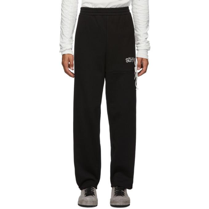 Photo: Doublet Black Surprise Embroidery Lounge Pants