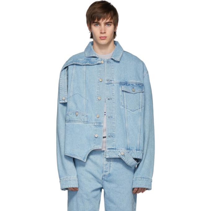 Photo: Botter Blue Denim Washed Upside Down Jacket