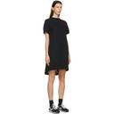 Sacai Black Sponge Sweat T-Shirt Dress