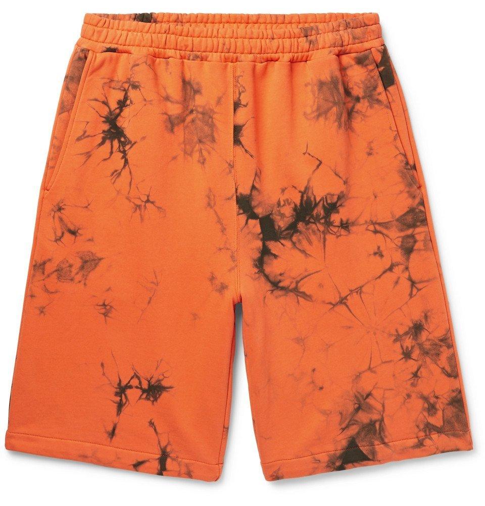 Photo: Helmut Lang - Tie-Dyed Loopback Cotton-Jersey Shorts - Men - Orange