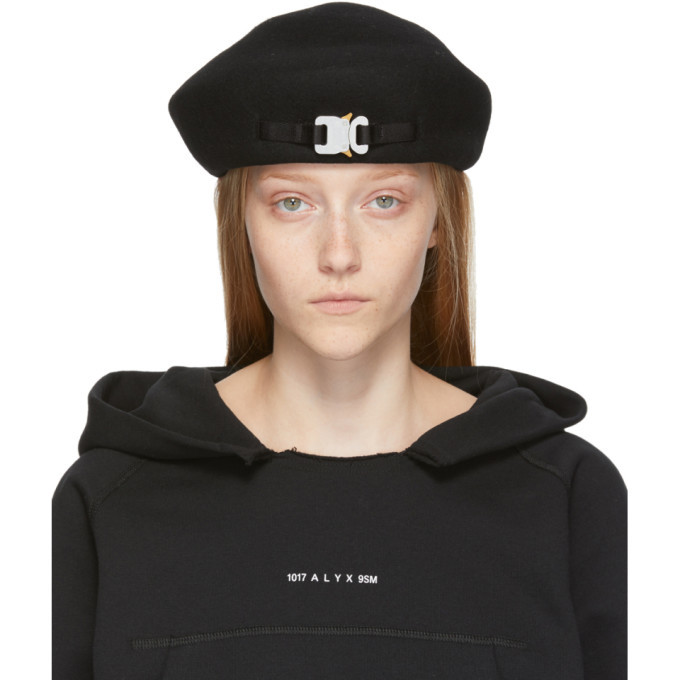 Photo: 1017 ALYX 9SM SSENSE Exclusive Black Wool Bardot Beret