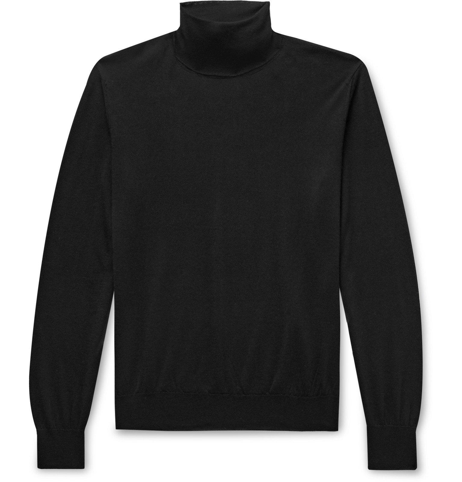 Saman Amel - Cashmere and Silk-Blend Rollneck Sweater - Black