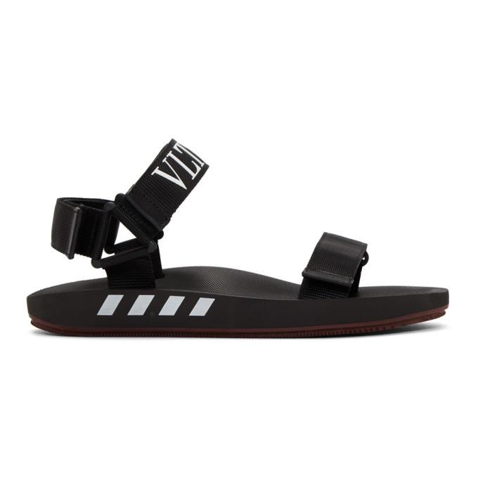 Photo: Valentino Black Valentino Garavani VLTN Sandals