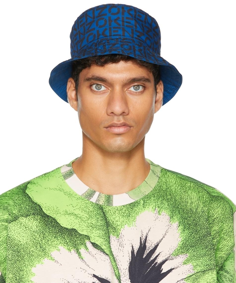 Photo: Kenzo Reversible Blue Monogram Bucket Hat