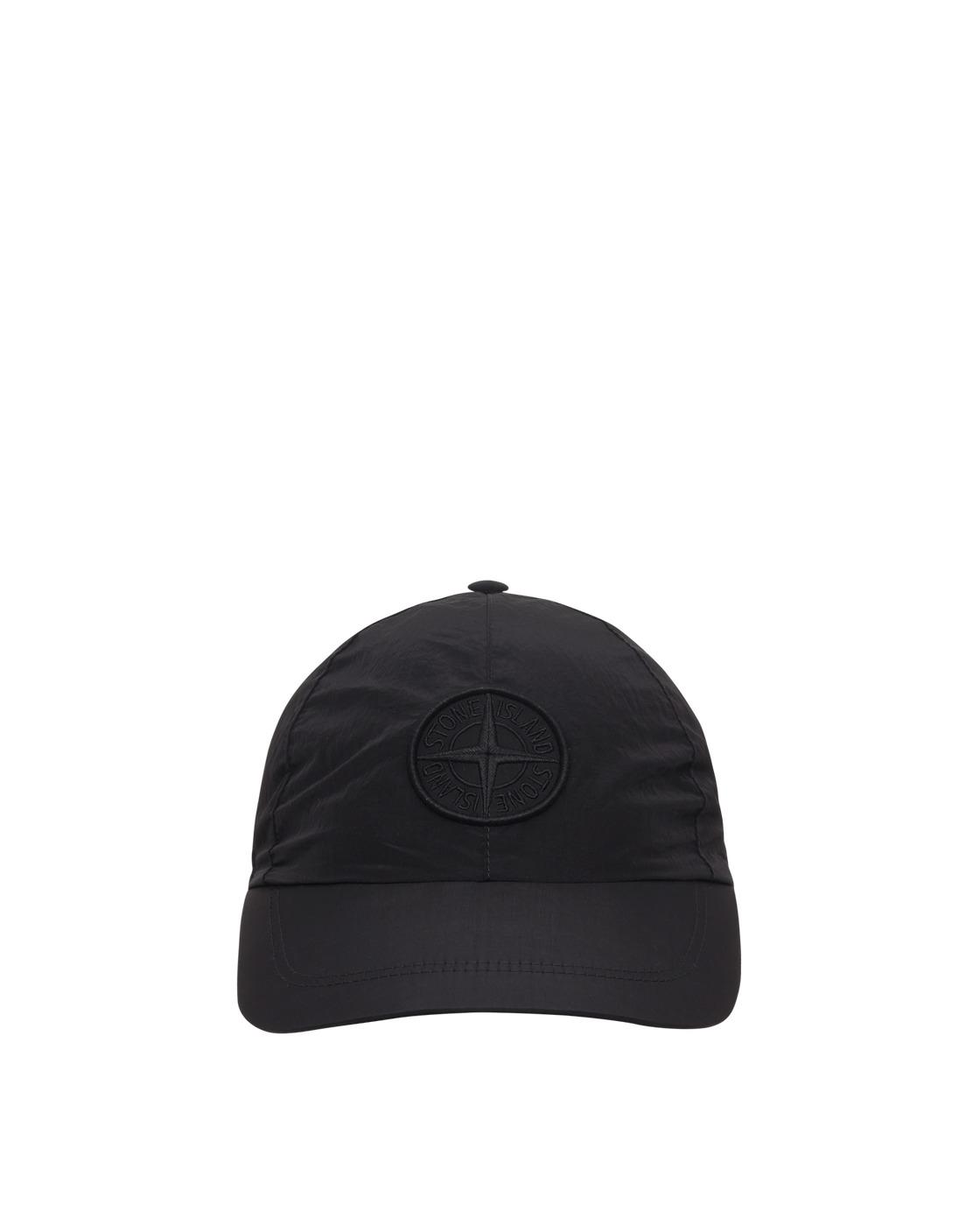 Stone Island Nylon Metal Logo Cap Black