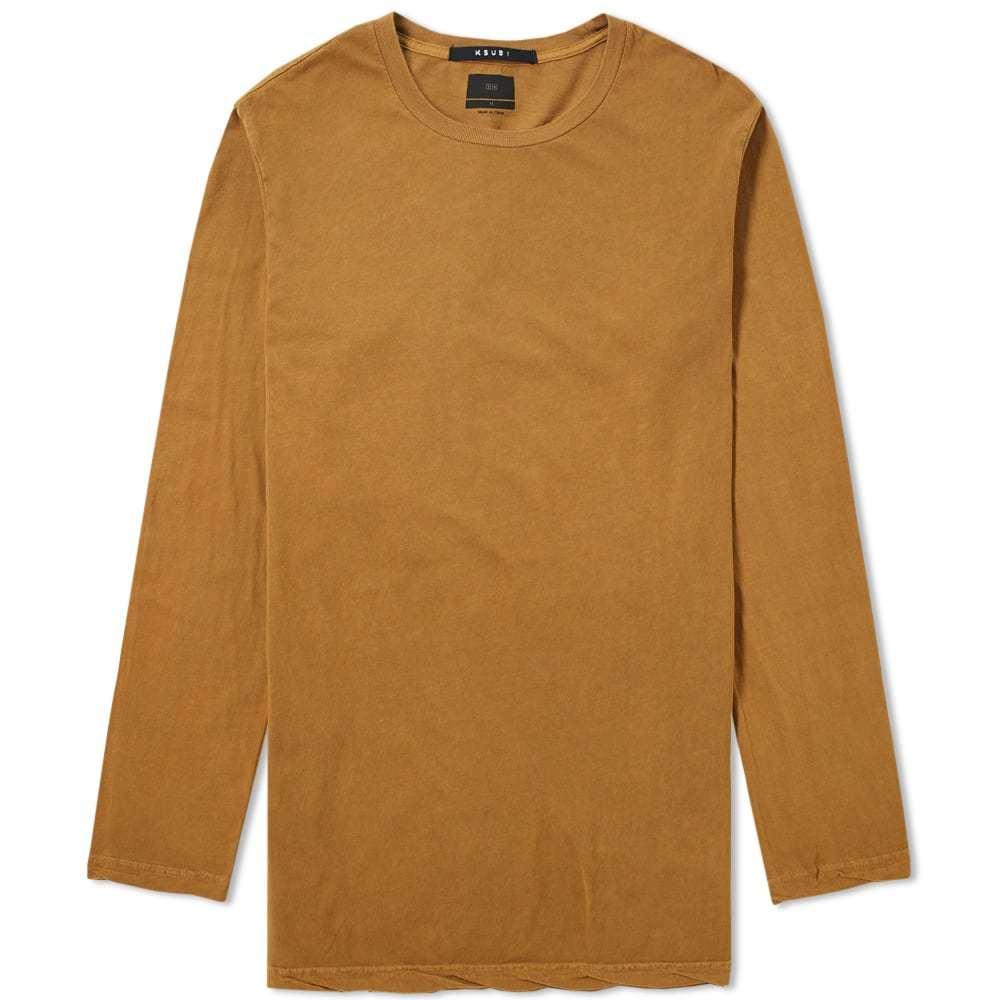 Ksubi Long Sleeve Seeing Lines Tee Orange