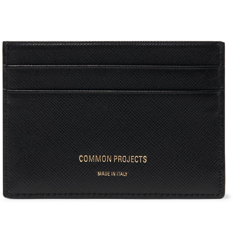 Common Projects - Cross-Grain Leather Cardholder - Black