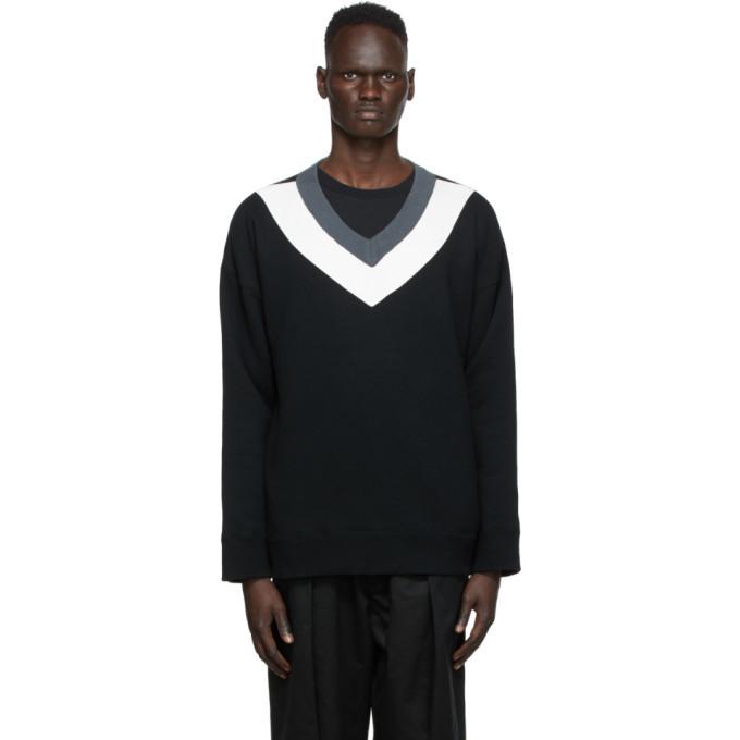 Photo: Undercover Multicolor V-Neck Sweater