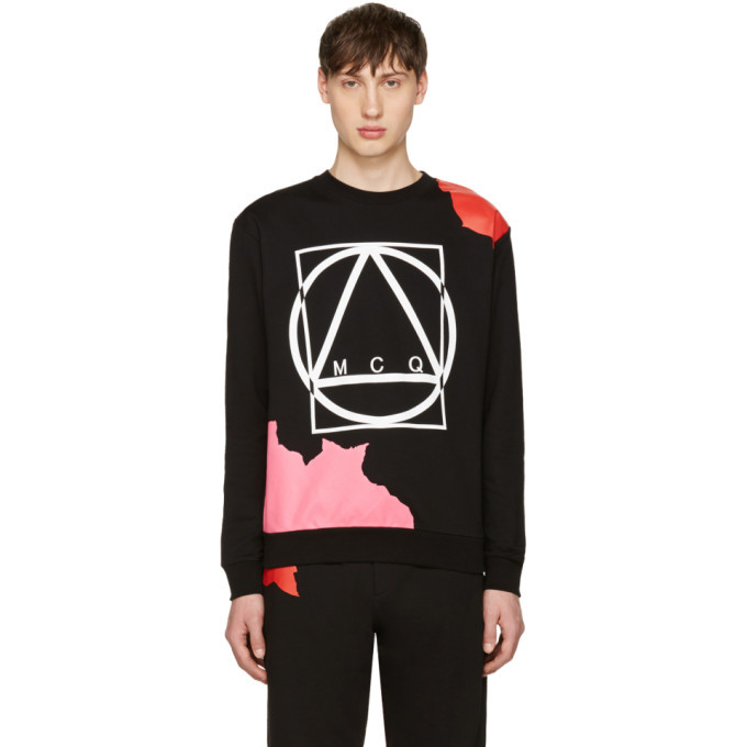 Photo: McQ Alexander McQueen Black Abstract Icon Clean Pullover